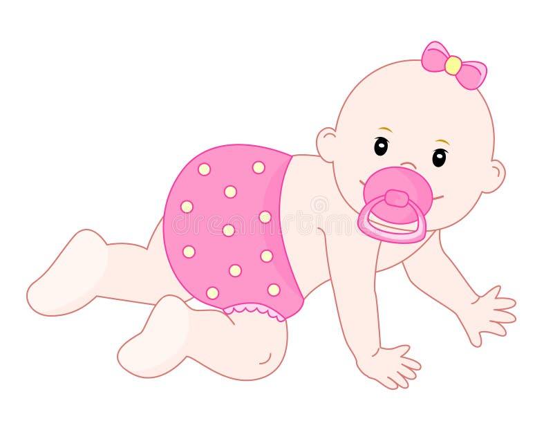 女婴 向量例证