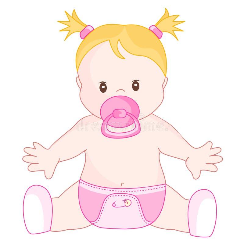 女婴 库存例证