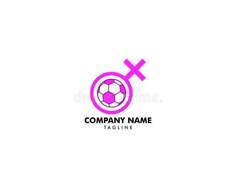女子橄榄球商标,足球妇女象,女孩橄榄球象,橄榄球商标,冠军,足联 向量例证