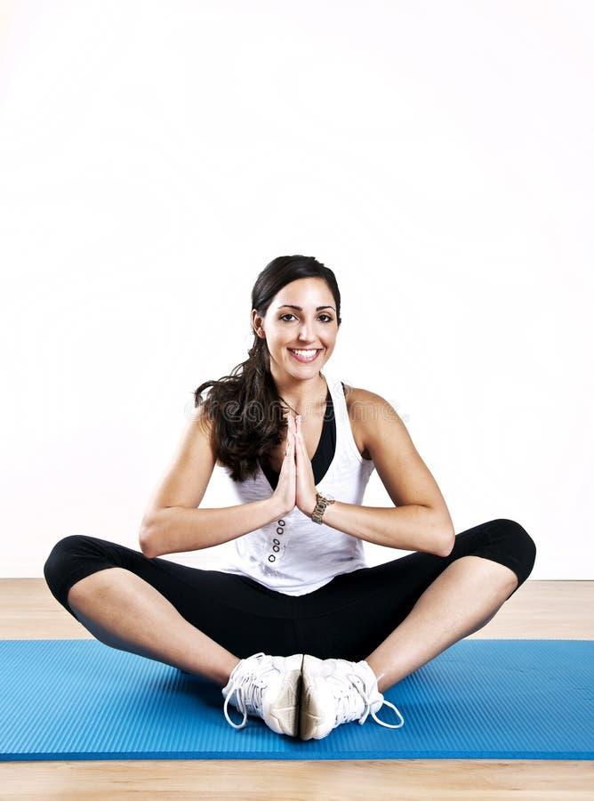 女子瑜伽年轻人 免版税图库摄影