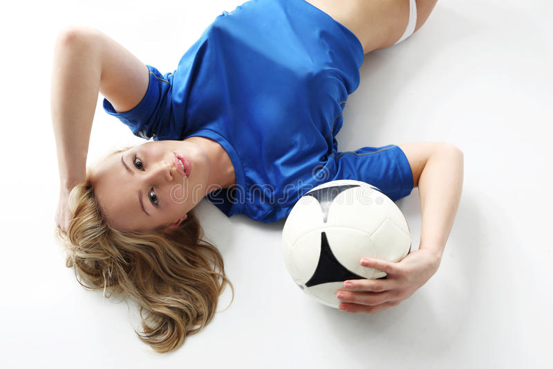 女子的橄榄球。 免版税库存图片