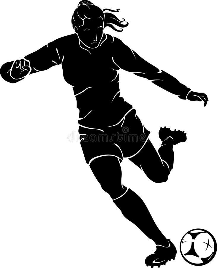 女子的足球赛 皇族释放例证