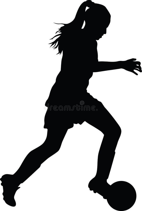 女子足球运动员 皇族释放例证