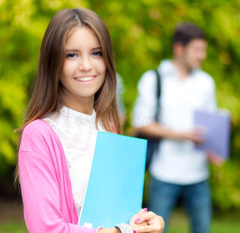 女学生纵向 免版税库存照片