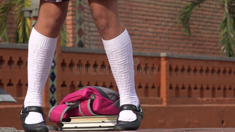 女学生跳舞的腿 库存照片