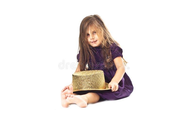 女孩一点 免版税库存照片