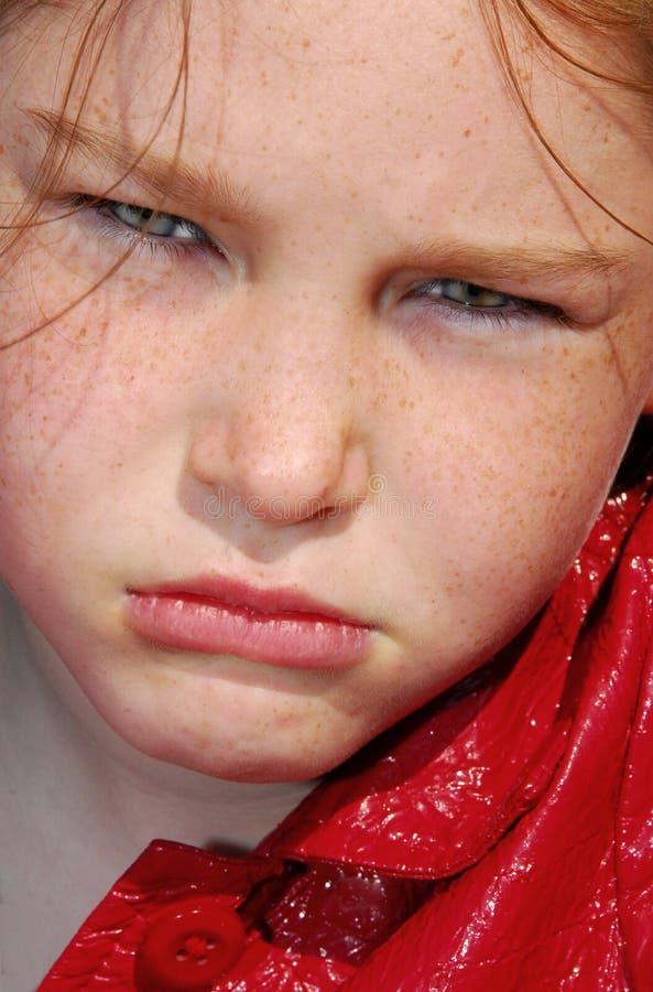 女孩不快乐的年轻人 免版税库存图片