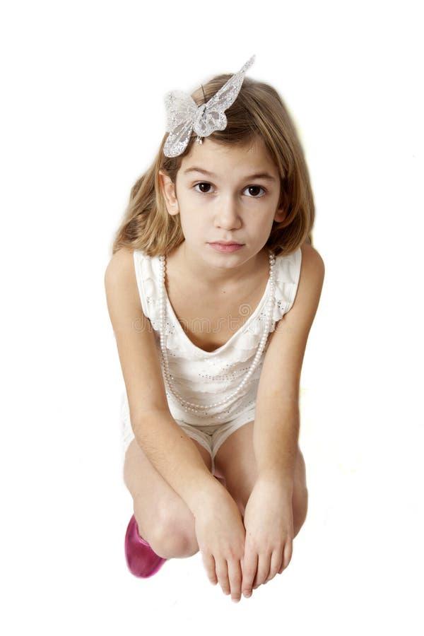 女孩九老严重的岁月 图库摄影
