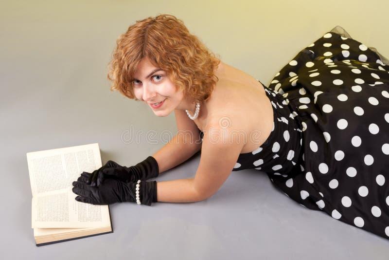 女孩书 库存照片