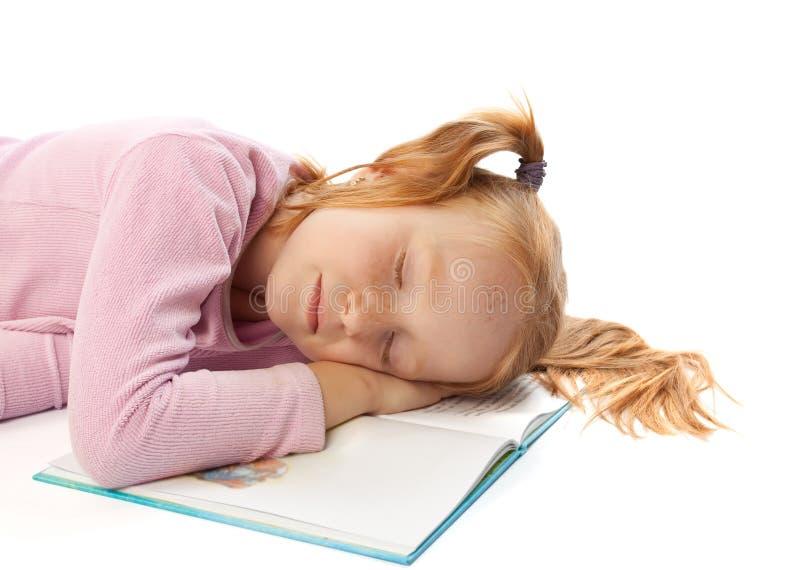 女孩休眠的一点 库存图片