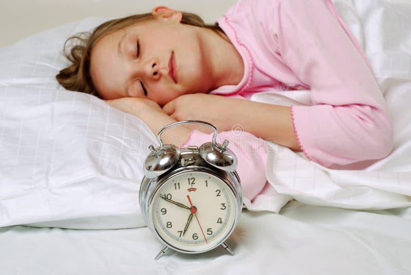 女孩休眠 免版税库存照片