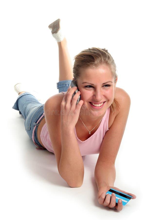 女孩位于 免版税库存图片