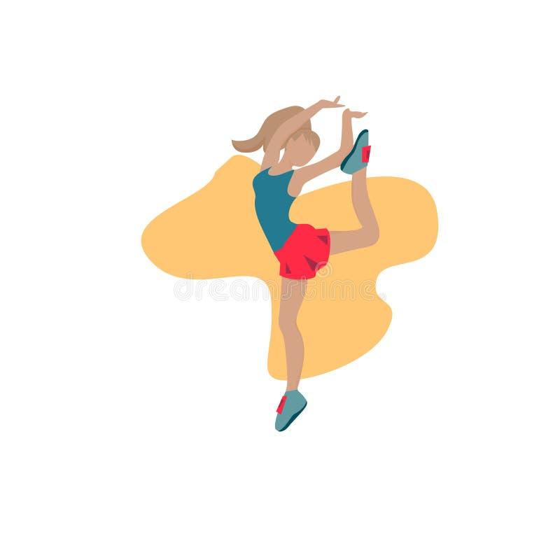 女孩体操运动员杂技运动员 皇族释放例证