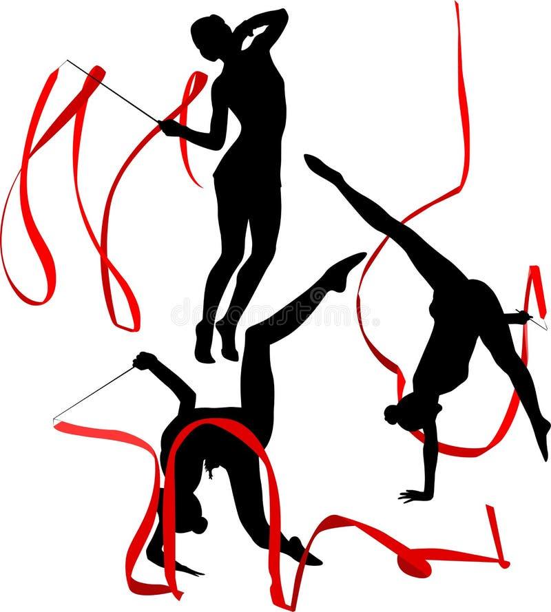 女孩体操运动员运动员 库存例证