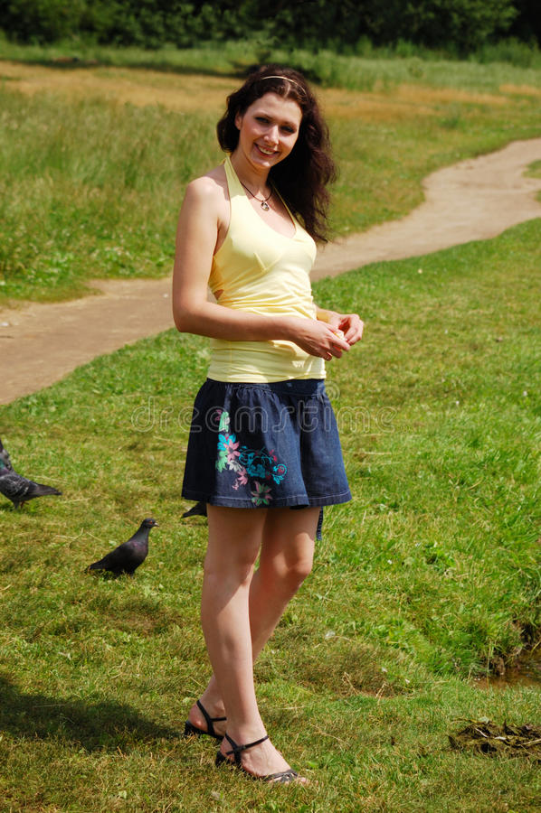 女孩俄语 免版税库存照片