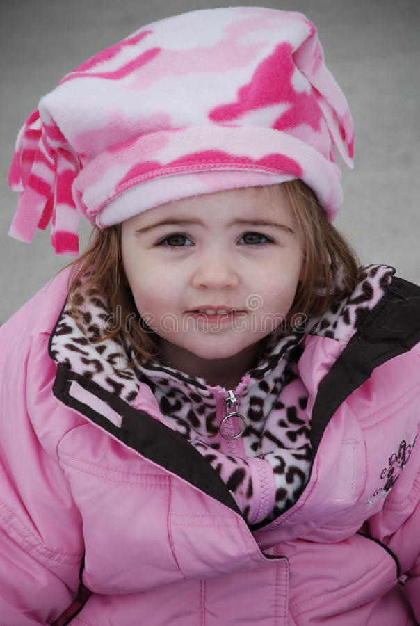 女孩冬天年轻人 免版税库存图片