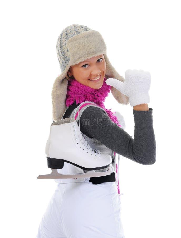 Download 女孩冰鞋 库存照片. 图片 包括有 运动, 盖帽, 设计, beautifuler, 愉快, 查出, 喜悦 - 22358566
