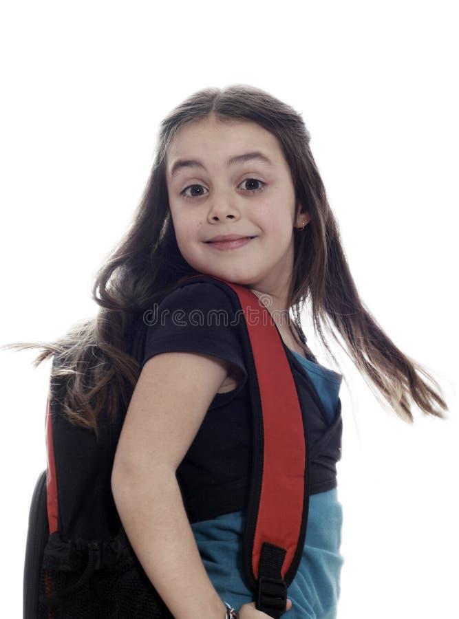 女孩准备好的学校年轻人 库存图片