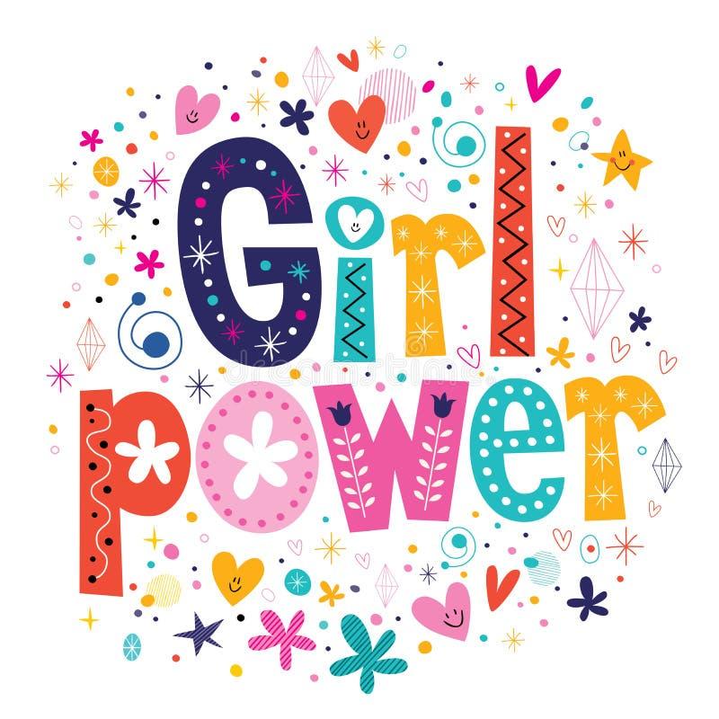 女孩力量 库存例证