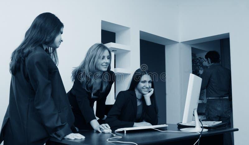 女孩办公室 免版税库存照片
