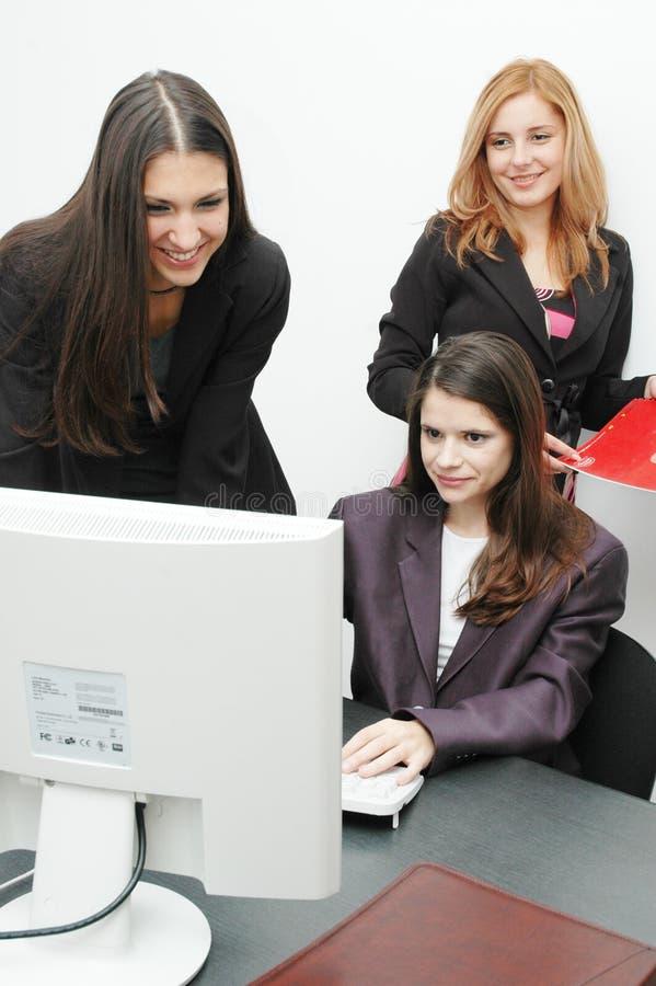 女孩办公室 免版税库存图片