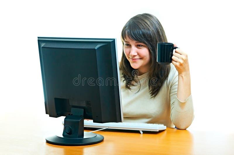 女孩办公室 库存照片