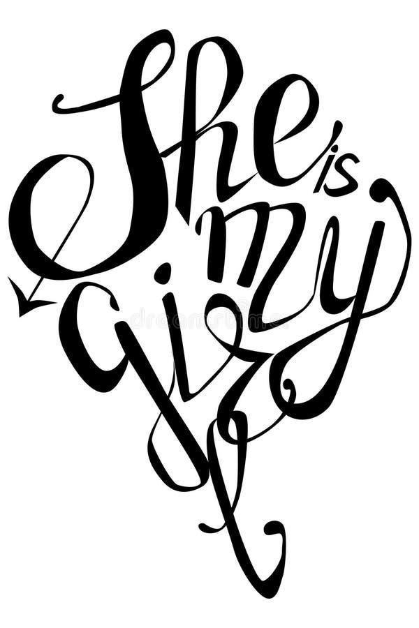 女孩加上女孩-在彩虹信件的题字,lgtb概念 向量例证