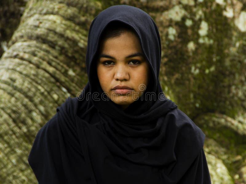 女孩印度尼西亚人moslim 免版税库存图片