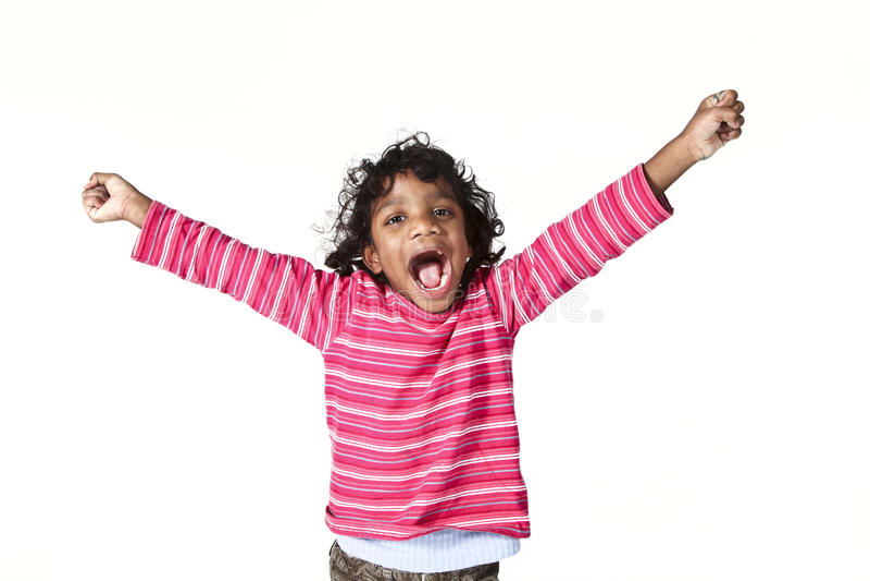 女孩印第安小的纵向 免版税库存照片