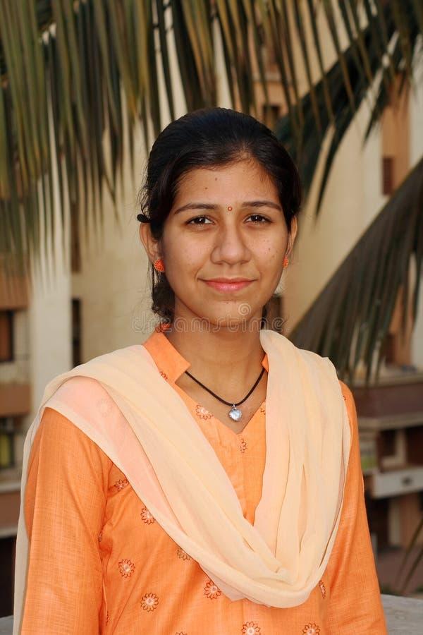 女孩印第安简单 免版税库存照片