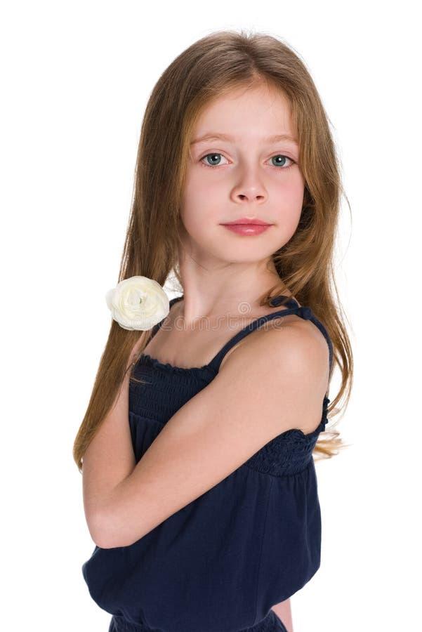 女孩可爱的一点 库存图片
