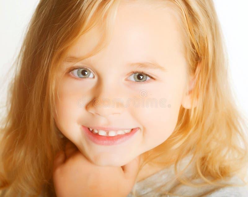 女孩可爱的一点 免版税图库摄影