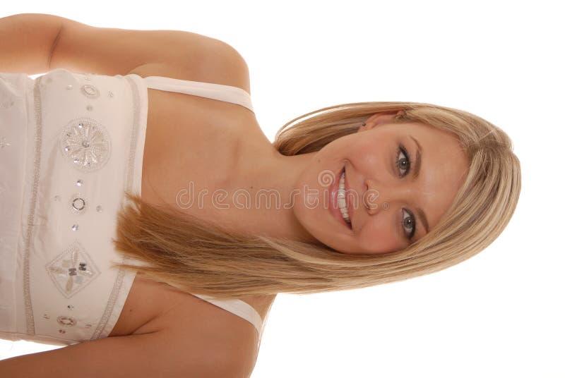女孩可爱的纵向 库存照片