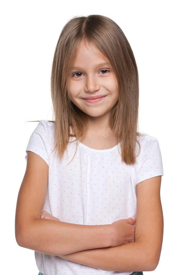 女孩可爱的年轻人 图库摄影