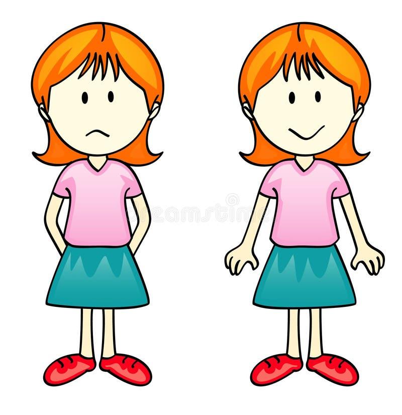 女孩向量 向量例证