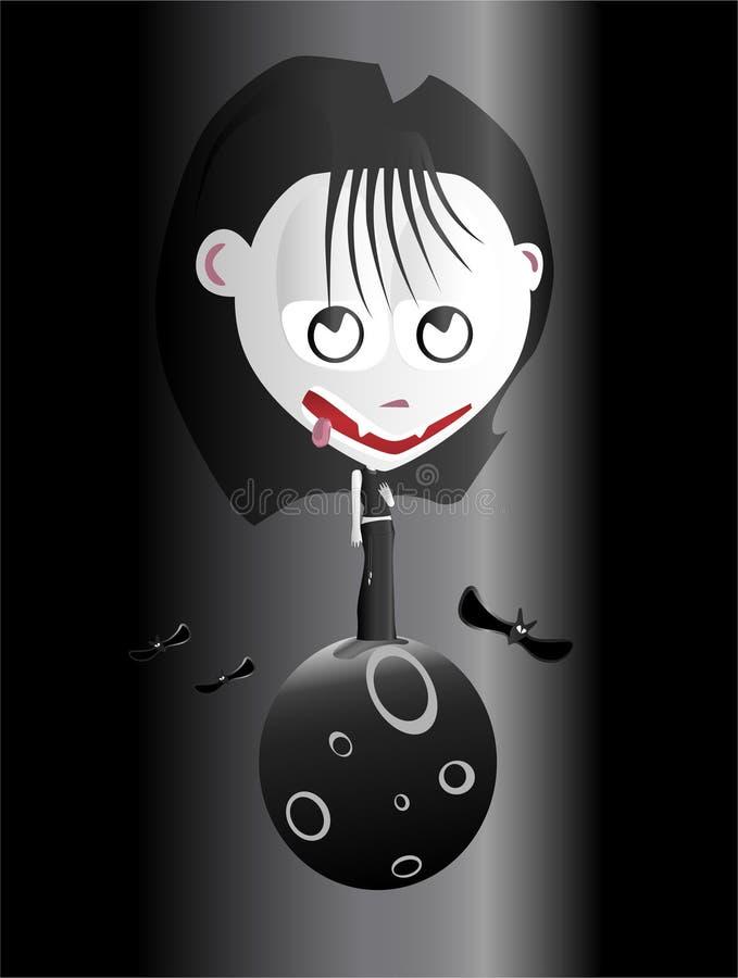 女孩吸血鬼 向量例证