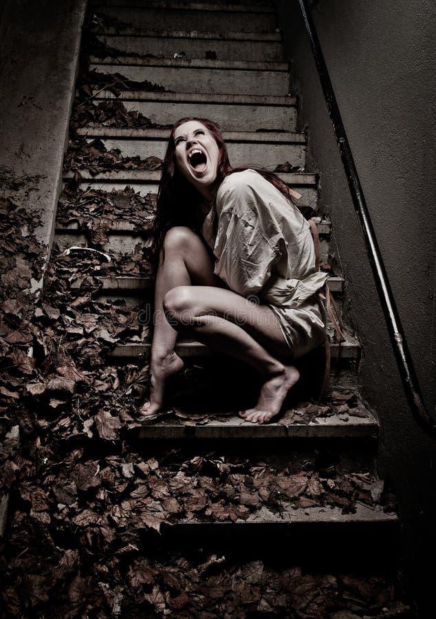 女孩吸血鬼 库存照片