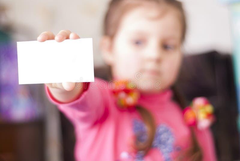 女孩和标志 免版税库存图片