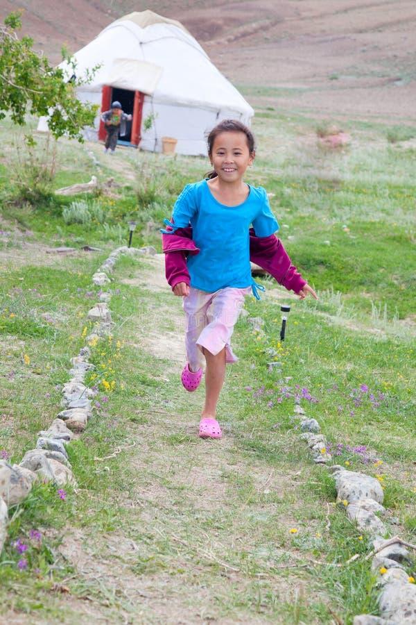 女孩哈萨克人 免版税库存照片