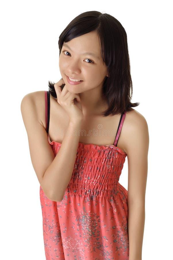 女孩喜悦微笑 库存照片