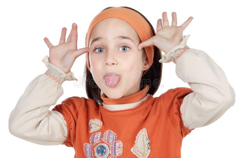 女孩嘲笑 免版税库存照片