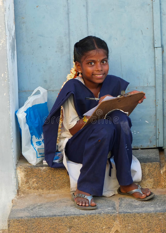 女孩在南印度 免版税库存照片