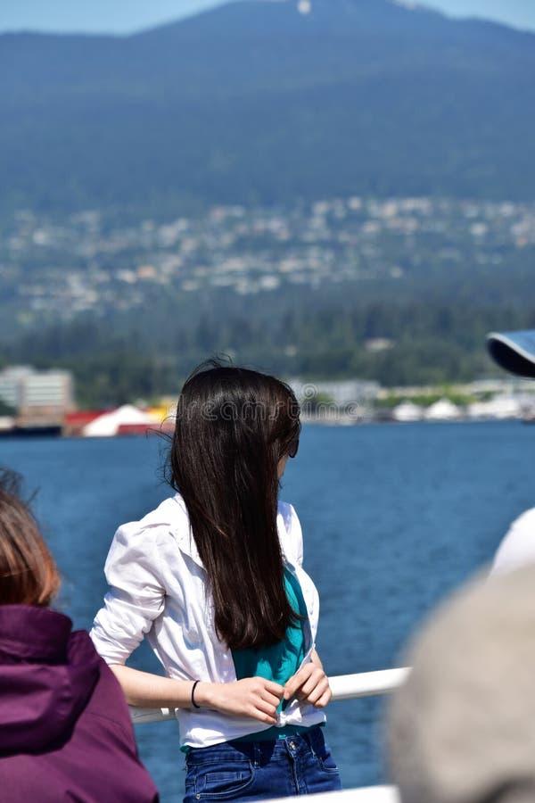 女孩在度假 图库摄影
