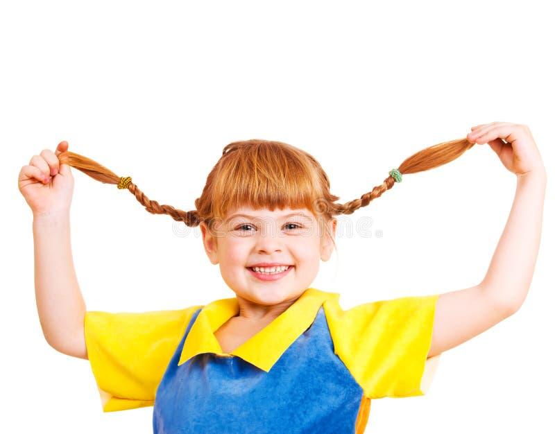 女孩头发的红色 免版税图库摄影