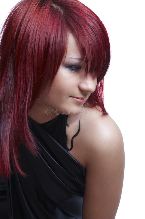 女孩头发红色 免版税库存照片