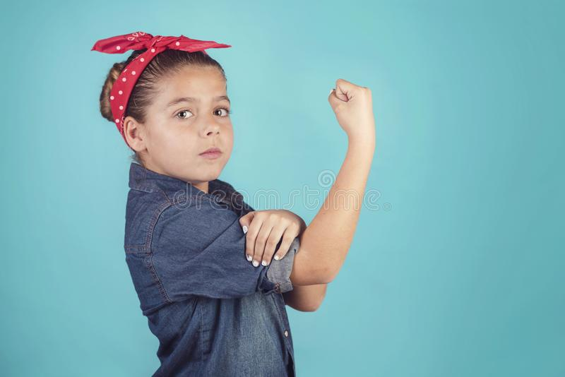 女孩女权主义 库存照片