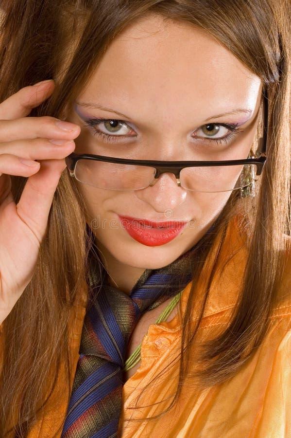 女孩好的纵向 免版税图库摄影