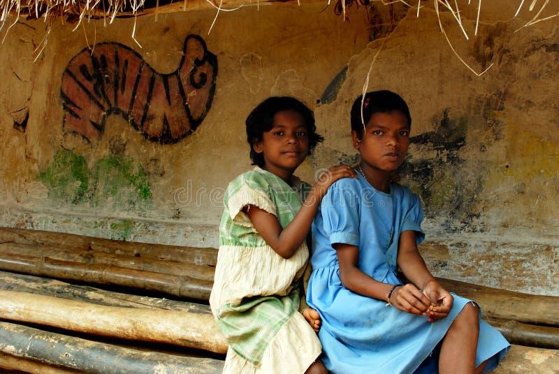 女孩子项在印度 图库摄影