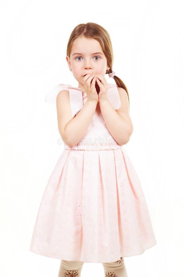 女孩害羞的一点 图库摄影