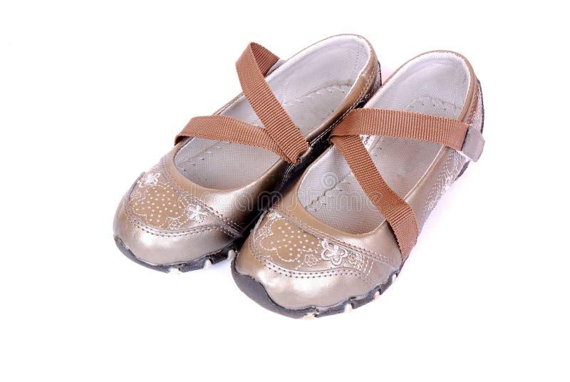 女孩小的鞋子 免版税库存图片